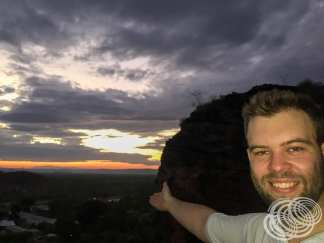 Matt at the top of Mirima National Park seeing the sunset