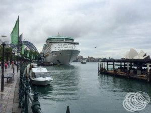 Voyager of the Seas at Sydney's Circular Quay