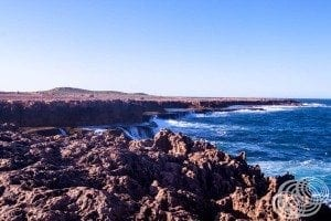 The cliffs at the Quobba Blow Holes