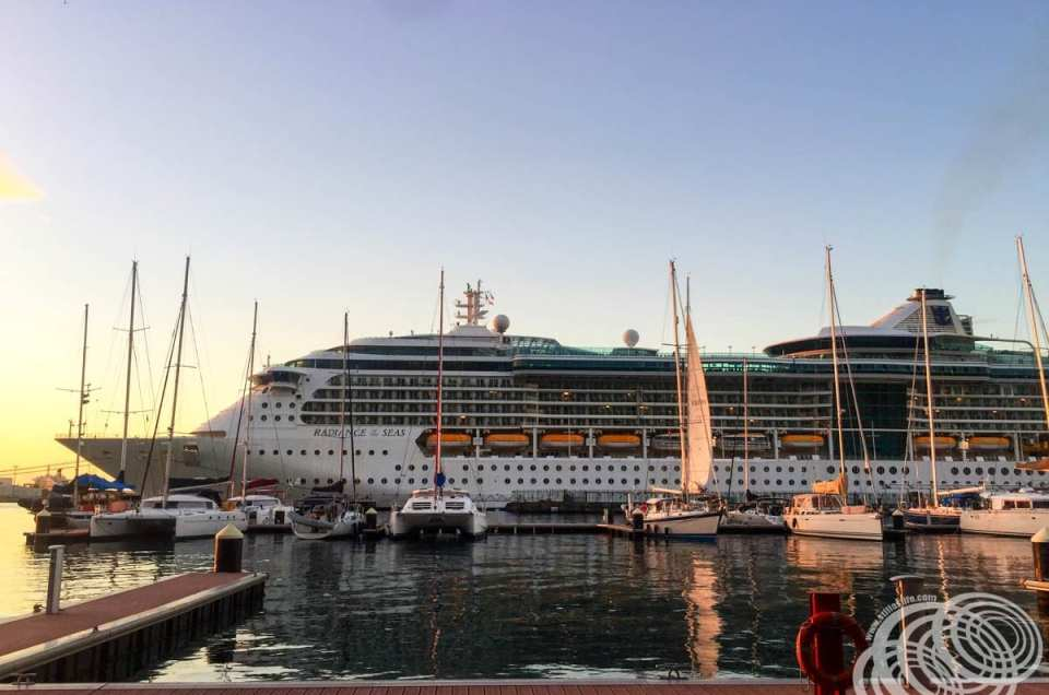 Can you smoke aboard Royal Caribbean's Radiance of the Seas and how does it affect you if you are a non-smoker?