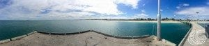 Panoramic view from the end of Jurien Jetty
