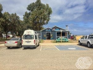 Got a park right outside the Jurien Jetty Cafe!