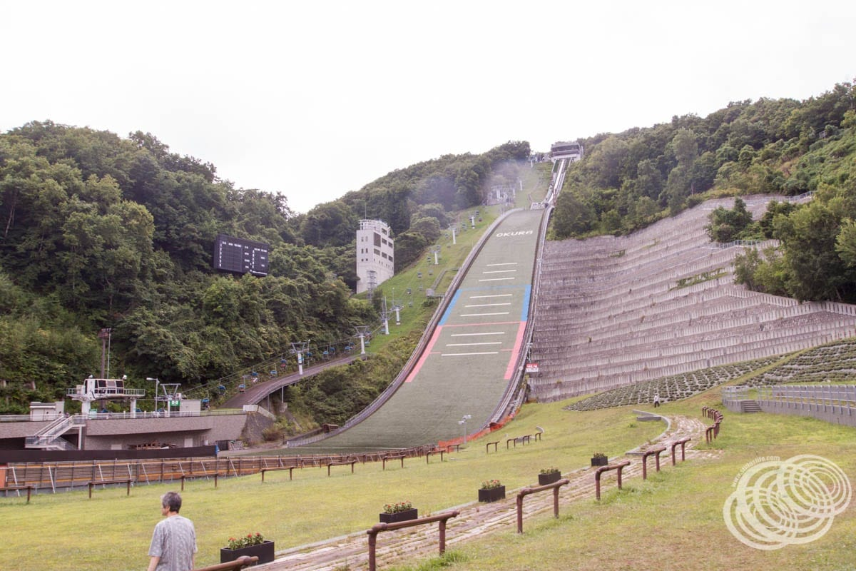 First view of the ski jump