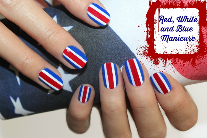 Red White And Blue Manicures Nail Art
