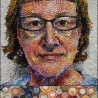 Plastic Bottle Cap Mosaic