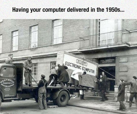 Computer Delivery In 50s