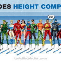DC Superheroes Height Comparison Chart