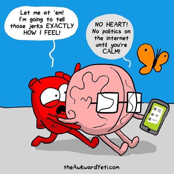 Struggle Between the Heart and the Brain