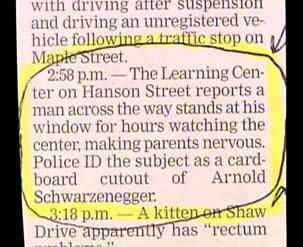 Bizarre Police Blotter Notifications