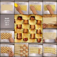Woven Hot Dog Pizza