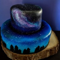 Check Out This Glorious Nocturnal Galaxy Cake