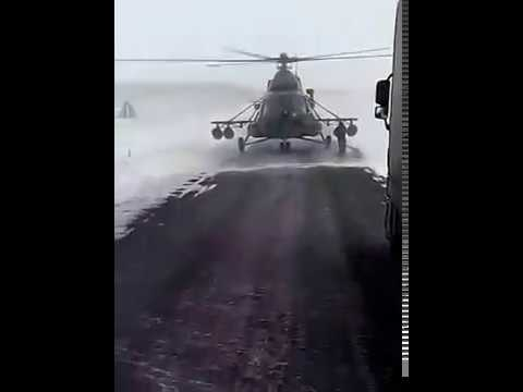 This Helicopter Pilot Lands In Snowstorm In Kazakhstan, What Happen Next Will Shock You