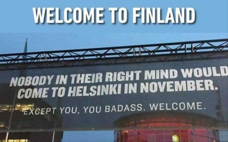 Welcoming Finland
