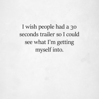 People With 30 Second Trailers