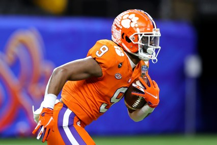 Why is Travis Etienne rarely considered for Steelers first pick?