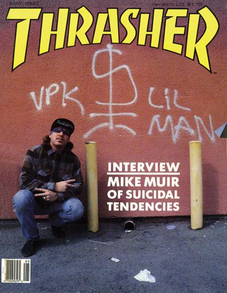 A capa da Trasher com Mike