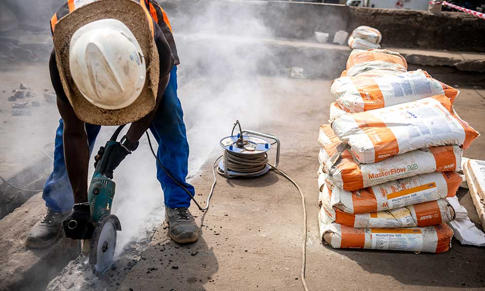 Preparation For Expansion Joint Bedding