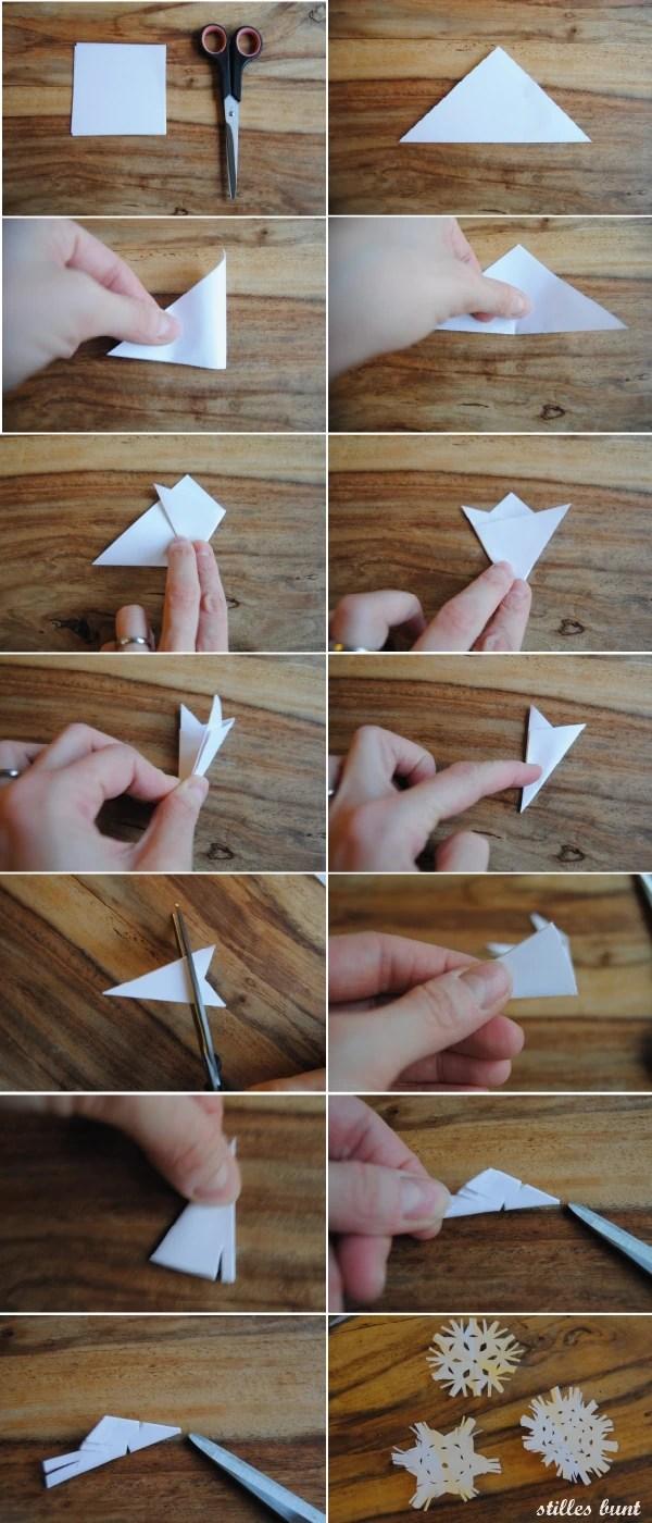 diy papier schneeflocken 2