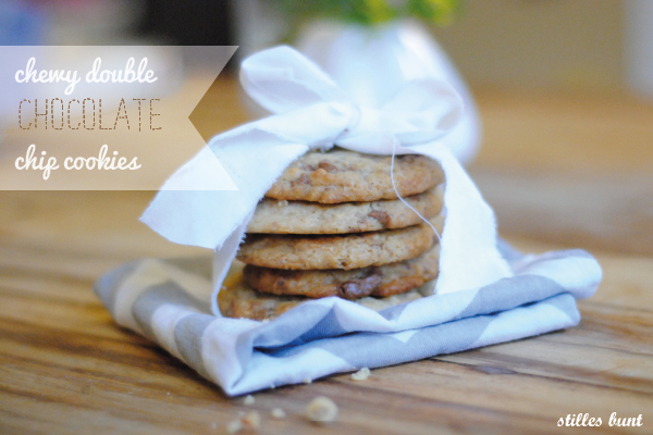 chewy double choc cookies 1