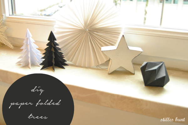 diy paper folded trees 4