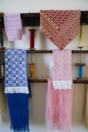 The woven designs were stunning and bright.