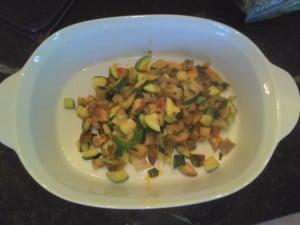 veggies, ready to layer