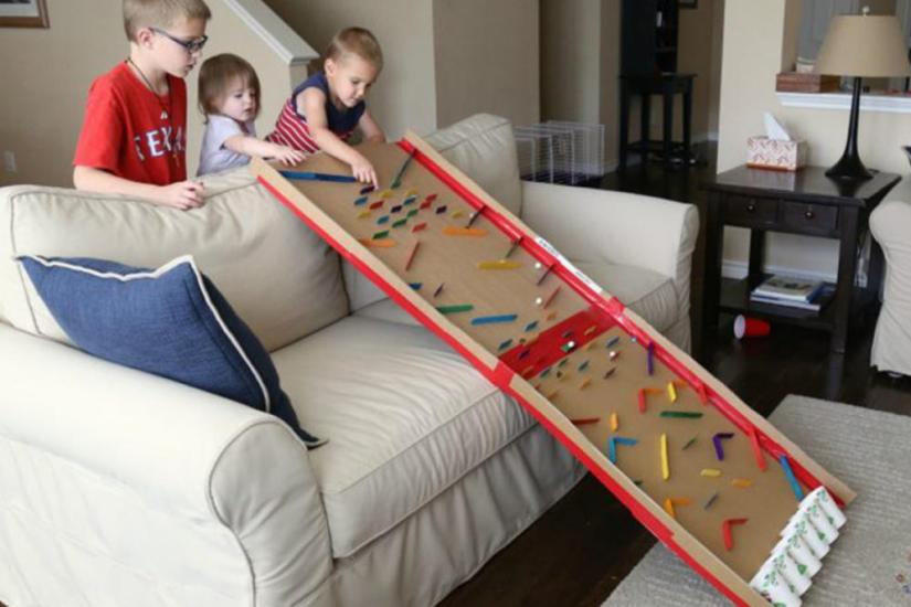 Crafts for boys: marble run
