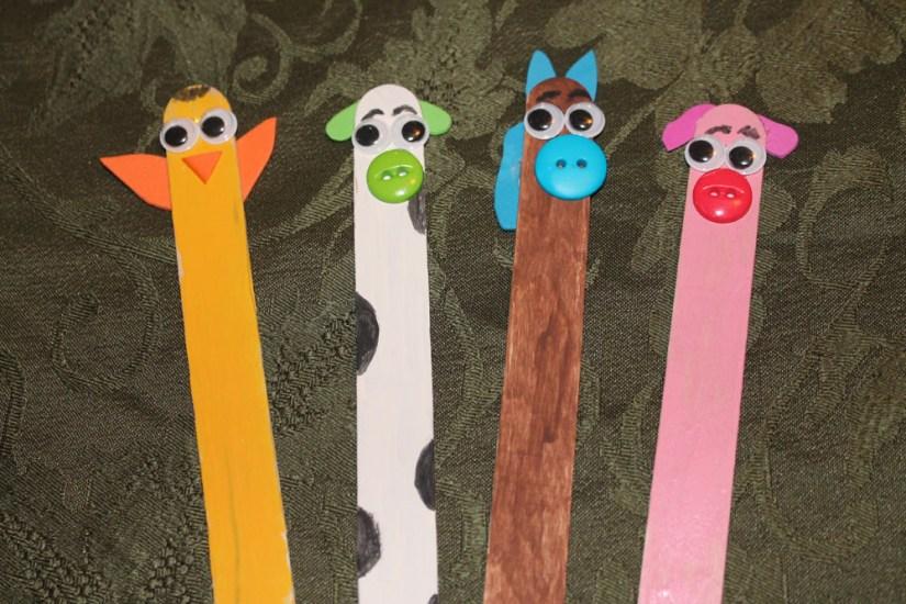 Craft Sticks: Animal Farm