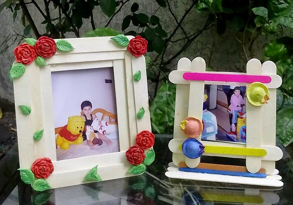 Dorable Craft Stick Picture Frame Molde - Ideas Personalizadas de ...