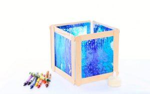 Craft Sticks: Wax Lantern