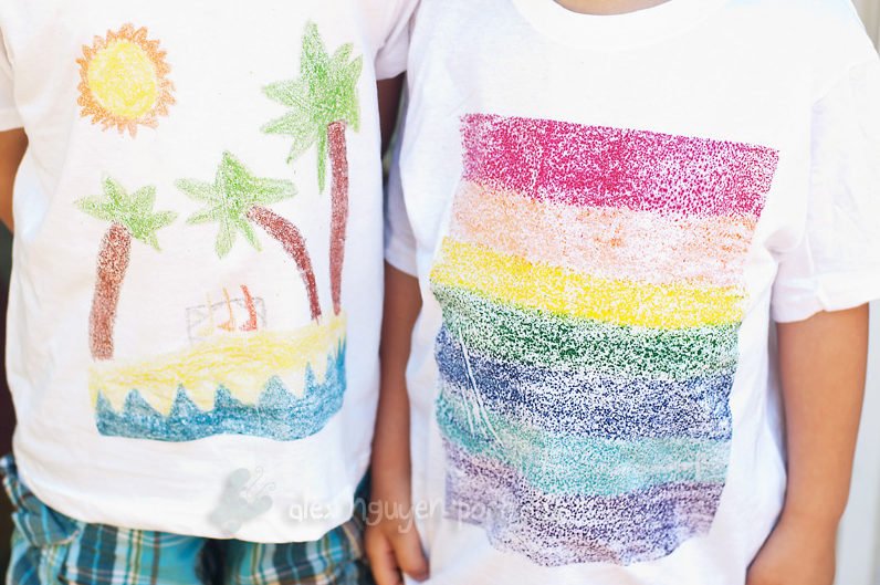 Crafts for boys: crayon t-shirt