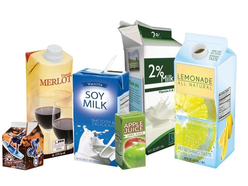 Non recyclable Milk Carton