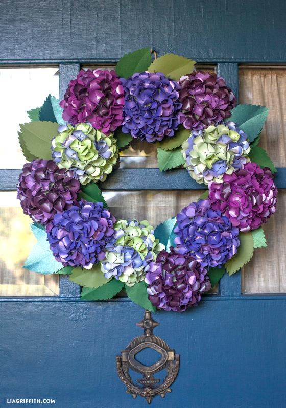 Craft Paper Fall Hydrangea