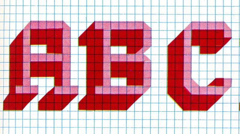 Cross Stitch Alphabet Funky 70s