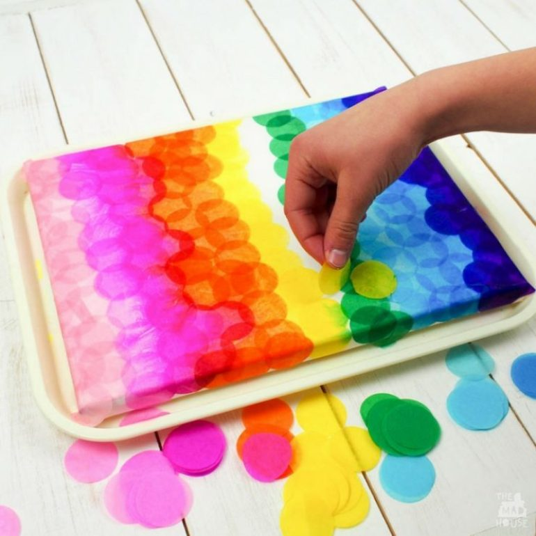 Tissue Paper Craft Painting