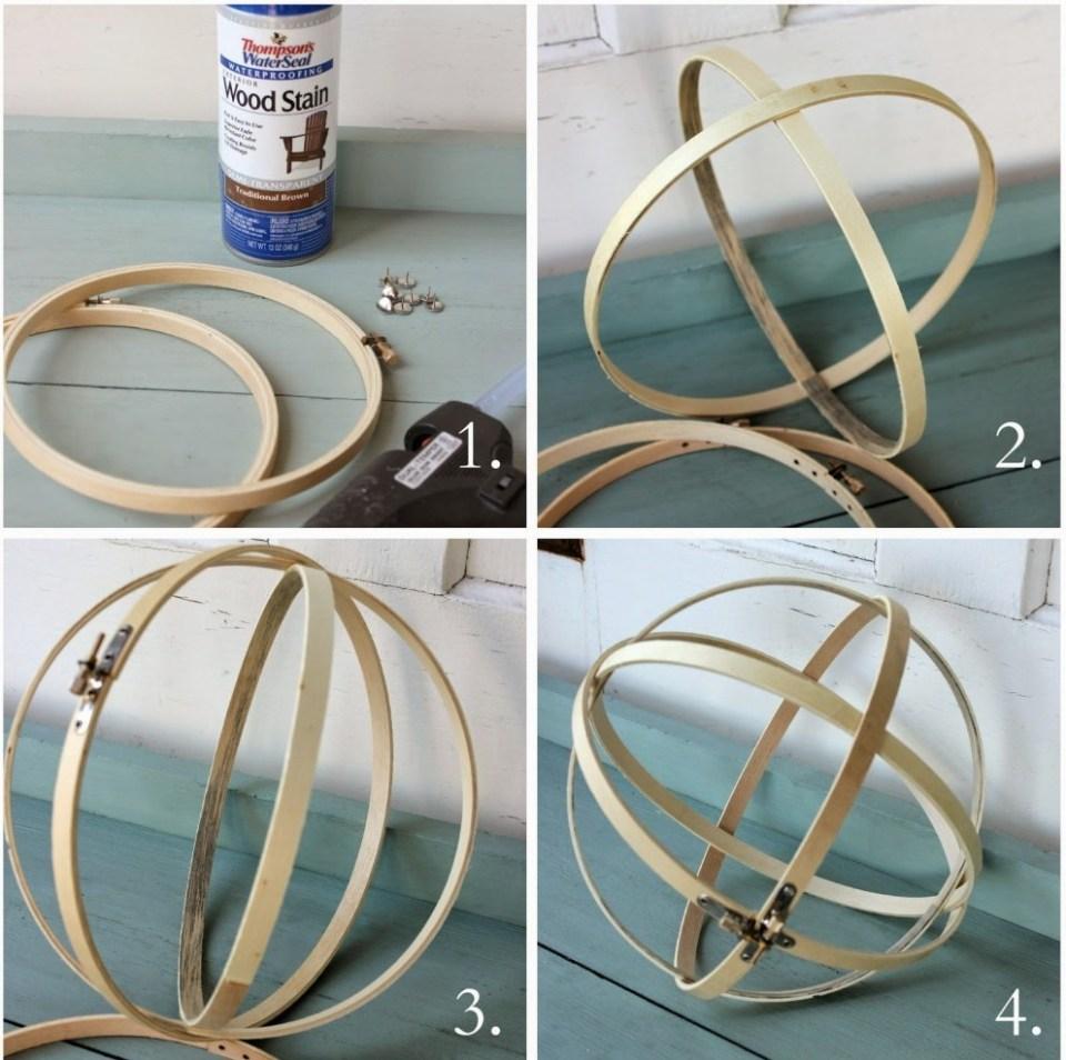 Craft Lights Embroidery Hoop Pendant