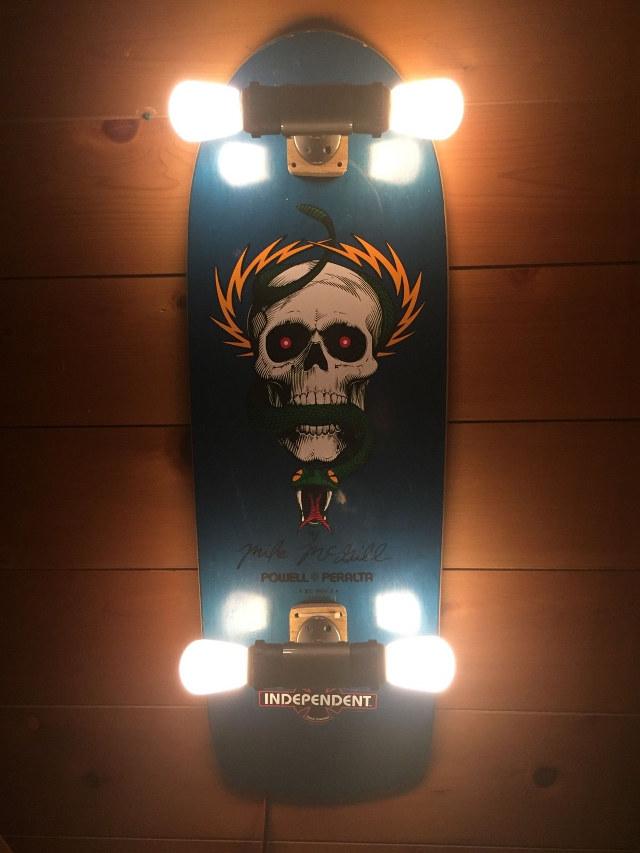 Craft Lights Skateboard Lamp