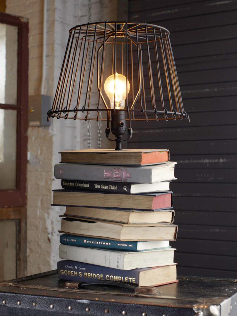 Craft Lights Stack Books Lamp