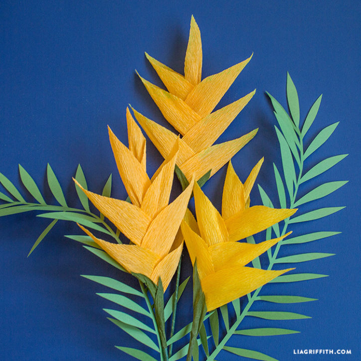 Craft Paper Heliconia Flower