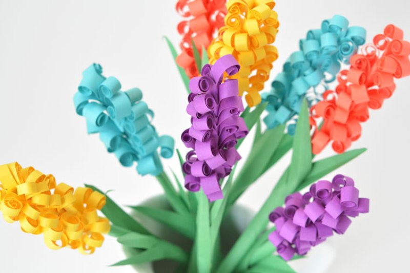 Craft Paper Hyacinth Flower