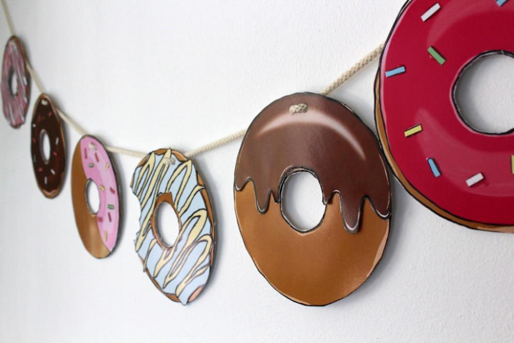 Crafts for Girls Donut Garland