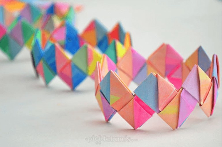 Crafts for Girls Paper Bracelet