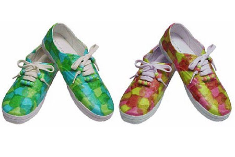 Tissue Paper Craft Decoupage Sneaker