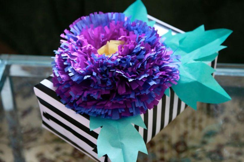 Tissue Paper Craft Flower Decoration