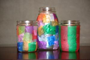 Tissue Paper Craft Jar