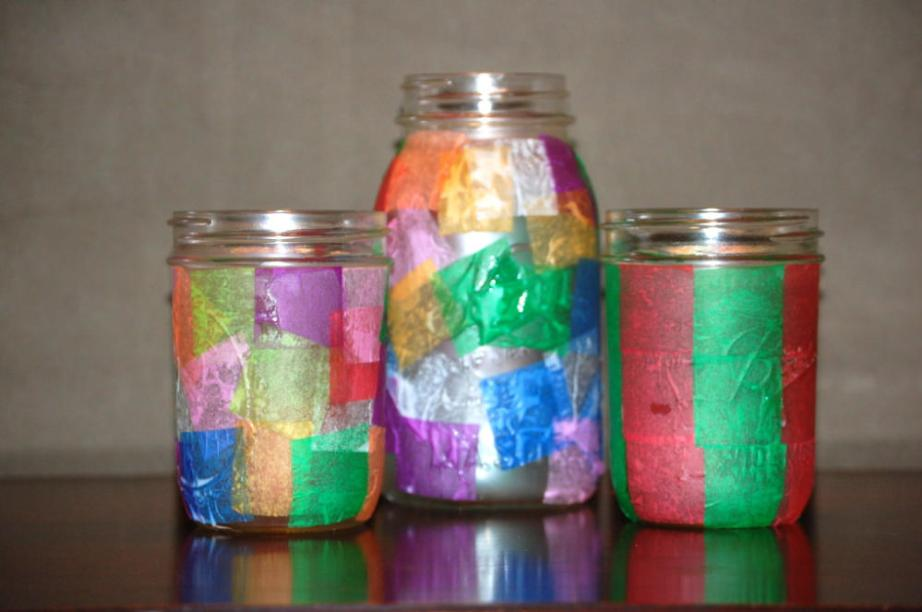 Tissue Paper Craft Jar