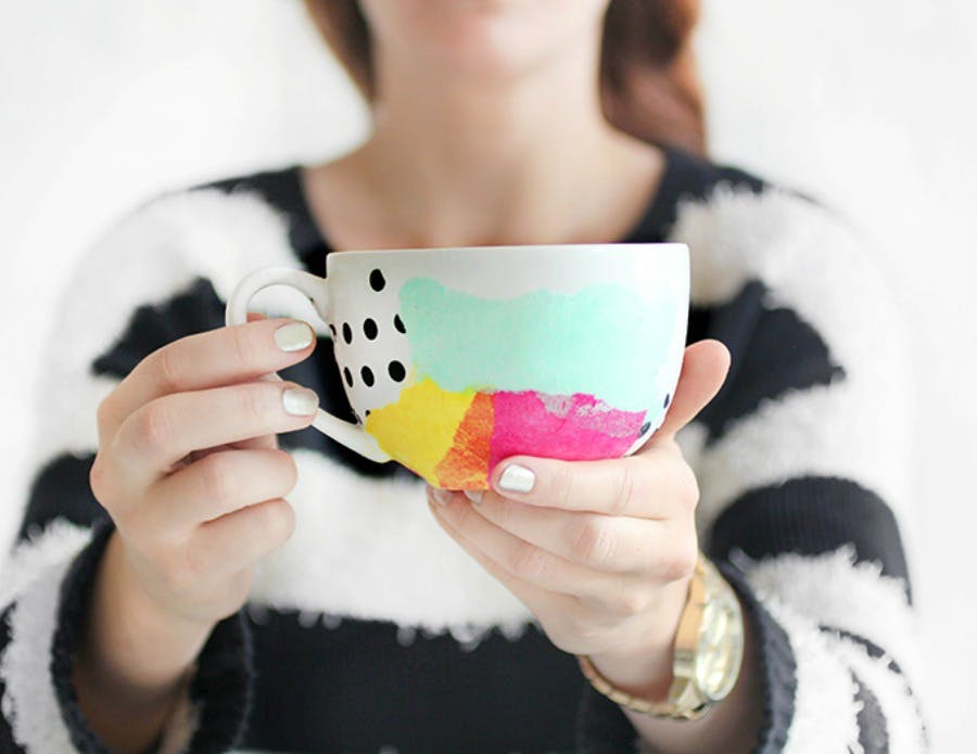 Tissue Paper Craft Mugs