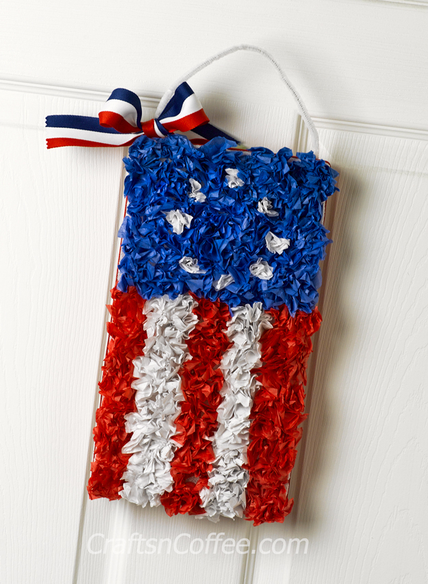 Tissue Paper Craft Flag