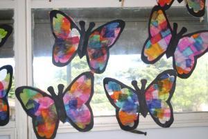 Tissue Paper Craft Suncatcher