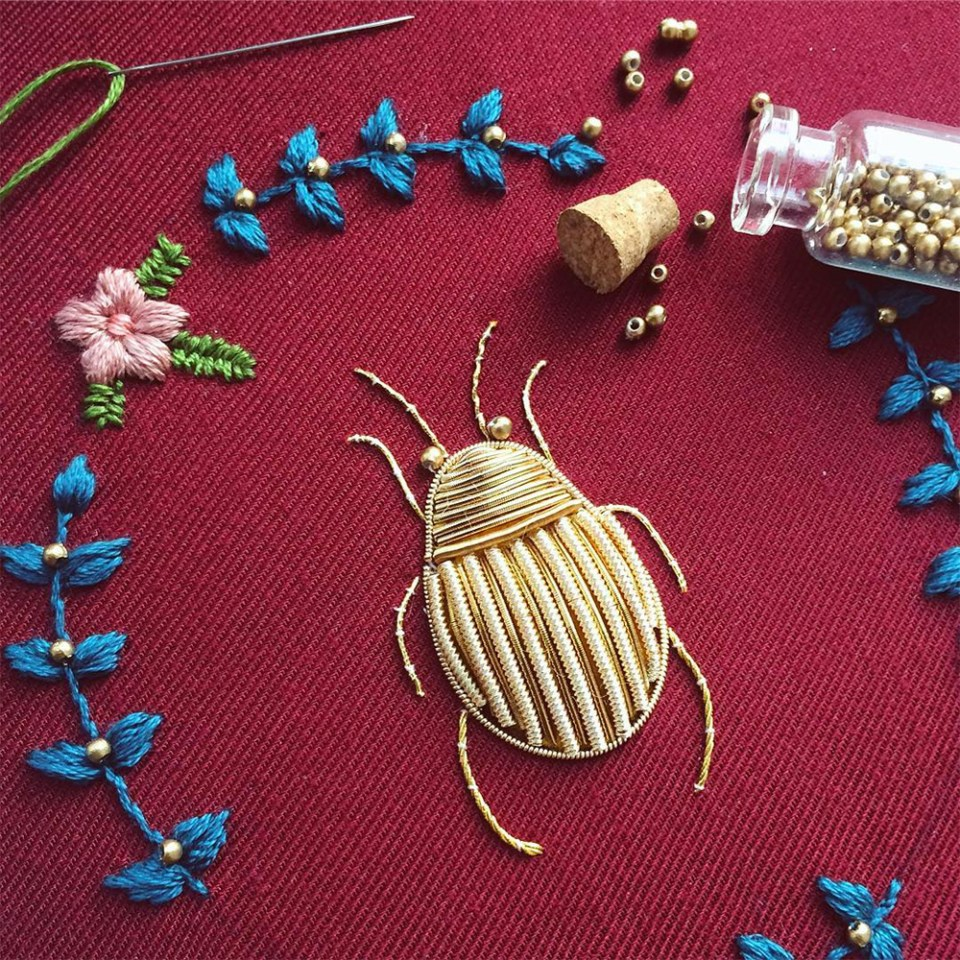 Embroidery Floss Beads